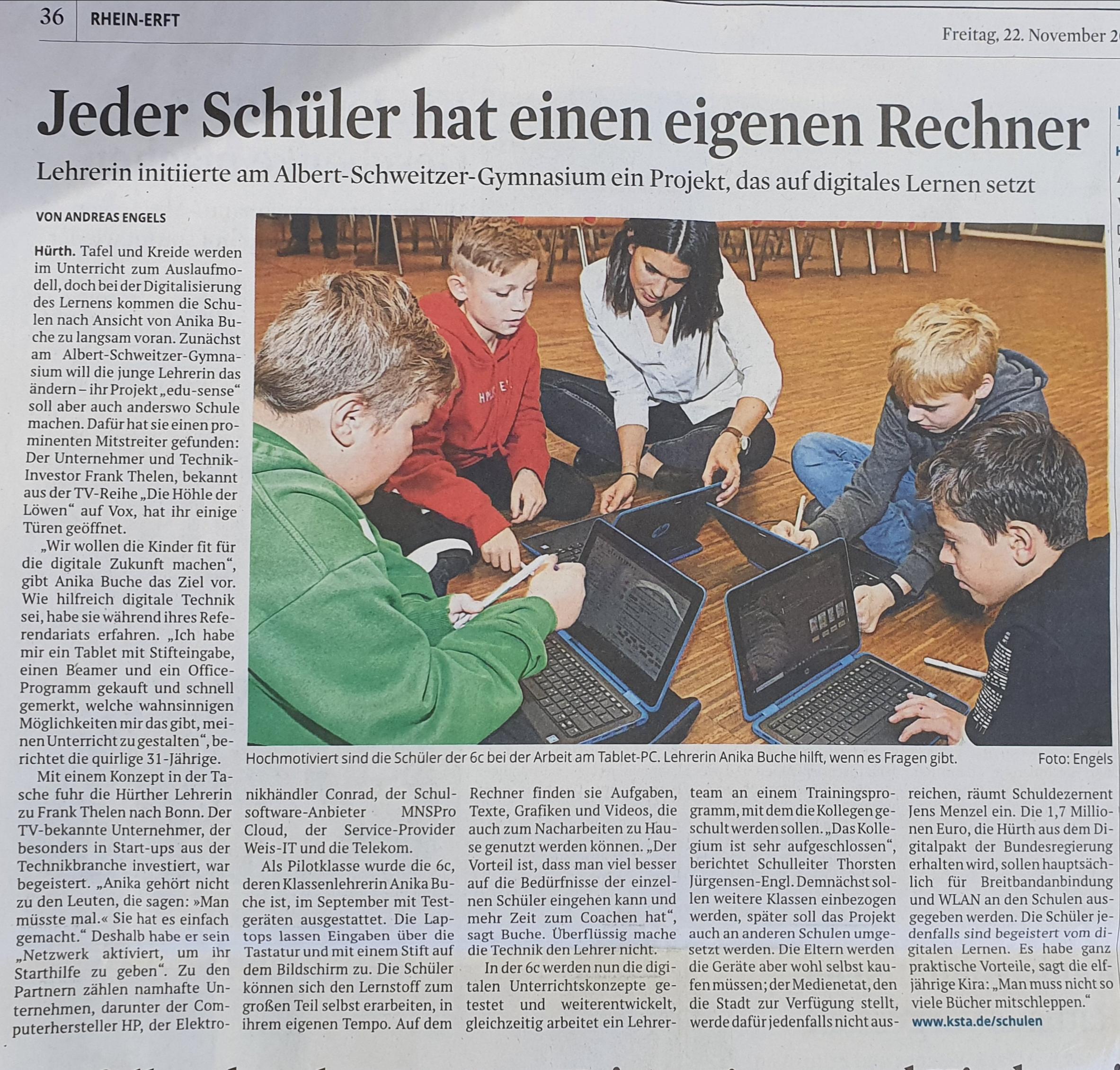 Artikel aus dem Kölner Stadtanzeiger
